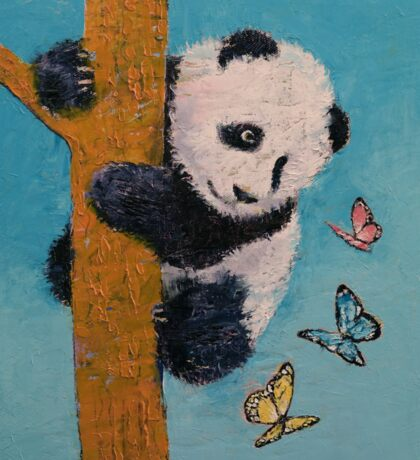 Panda Butterflies Sticker