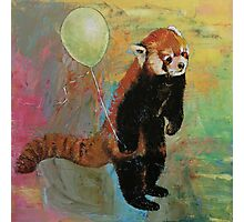 Red Panda Balloon Photographic Print