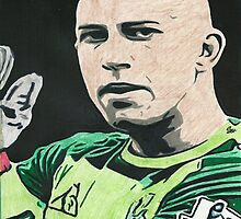 Tim Howard Everton Comic Book Style Image by chrisjh2210