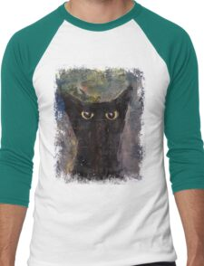 Ninja Cat Men's Baseball ¾ T-Shirt