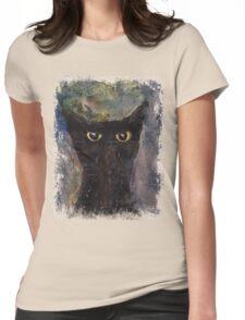 Ninja Cat Womens Fitted T-Shirt