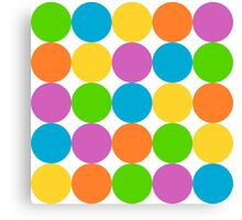 Big Colorful Polka Dots Canvas Print