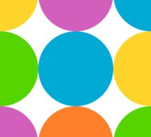 Big Colorful Polka Dots Sticker