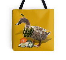 Thanksgiving Indian Girl Duck Tote Bag