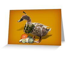 Thanksgiving Indian Girl Duck Greeting Card