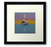 Panda Lake Framed Print