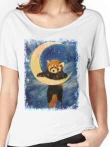 Red Panda Stars Women's Relaxed Fit T-Shirt