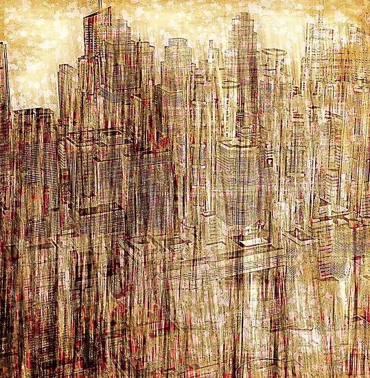 City utopia 2 illustration by Jean-François Dupuis