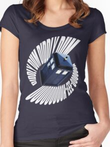 doctor who theme 2 Women's Fitted Scoop T-Shirt