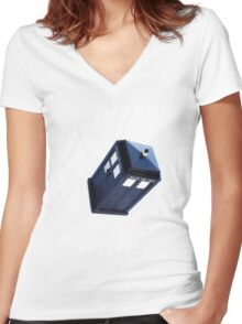 doctor who theme 2 Women's Fitted V-Neck T-Shirt