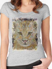 Lion Cub Women's Fitted Scoop T-Shirt