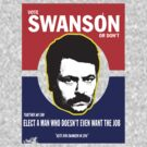 "Ron Swanson ""Parks and Recreation"" by BUB THE ZOMBIE"