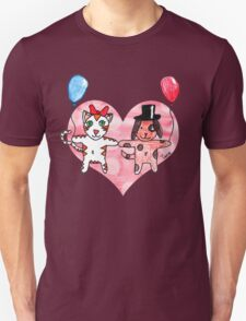 Kitty Loves Puppy by Tane (10) Unisex T-Shirt