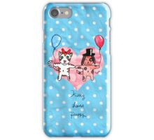 Kitty Loves Puppy by Tane (10) iPhone Case/Skin