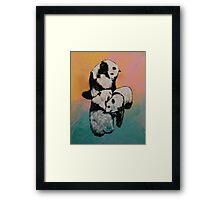 Panda Street Fight Framed Print