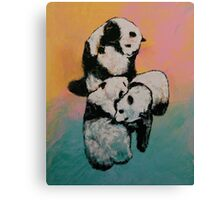 Panda Street Fight Canvas Print