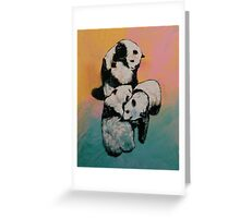 Panda Street Fight Greeting Card