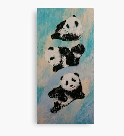 Panda Karate Canvas Print