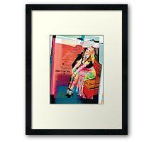 60's Girl Framed Print