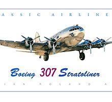 Boeing 307 Stratoliner  by brianrolandart