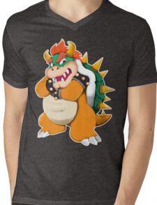 Bowser King Koopa Mens V-Neck T-Shirt