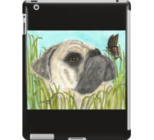 Pug Dog Butterfly Animals Cathy Peek Art iPad Case/Skin