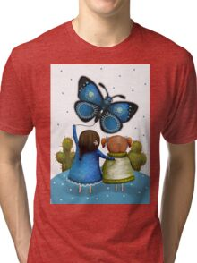 Butterfly Kite Tri-blend T-Shirt
