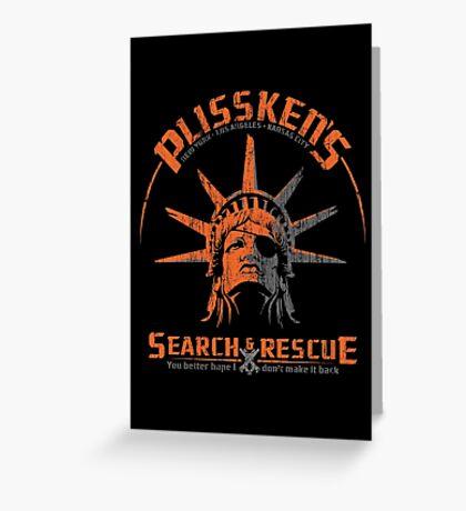 Snake Plissken's  Search & Rescue Pty Ltd Greeting Card