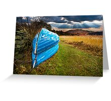 boats in secure winter storage Greeting Card