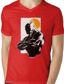 Black Mens V-Neck T-Shirt