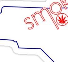 Smoke Local Weed in North Carolina (NC) Sticker
