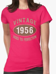 Vintage 1956 Birthday Womens Fitted T-Shirt