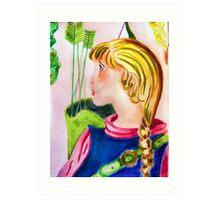 Little archer girl Art Print