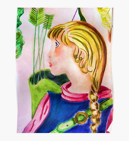Little archer girl Poster