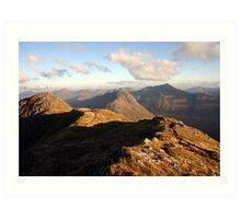 Evening sun, Knoydart & Glen Shiel Art Print