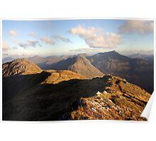 Evening sun, Knoydart & Glen Shiel Poster