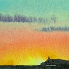 Sunset of the Mull of Galloway by Lynne  Kirby