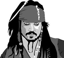 Johnny Depp Pirates of the caribbean design by Paul Dunkel