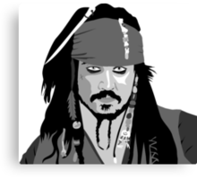 Johnny Depp Pirates of the caribbean design Canvas Print