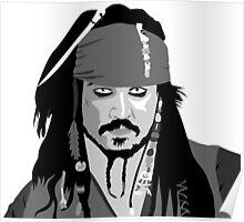 Johnny Depp Pirates of the caribbean design Poster