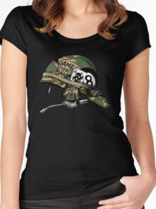 Game Over Man Aliens Born to Kill Women's Fitted Scoop T-Shirt