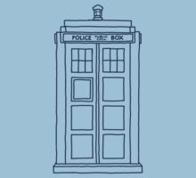 """Hello, my name's Sexy."" (TARDIS Blue) by meadythebrave"