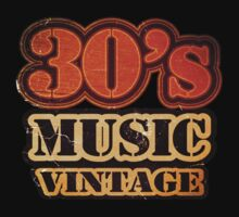 30's Music Vintage T-Shirt by Nhan Ngo