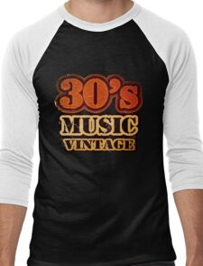 30's Music Vintage T-Shirt Men's Baseball ¾ T-Shirt