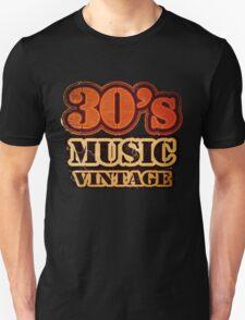 30's Music Vintage T-Shirt T-Shirt