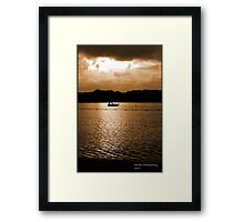 Mauritius sunset Framed Print