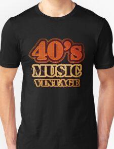 40's Music Vintage T-Shirt T-Shirt