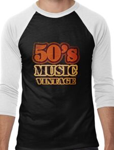 50's Music Vintage T-Shirt Men's Baseball ¾ T-Shirt