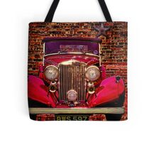 Vintage 1945 Red Bentley Tote Bag