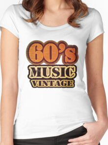 60's Music Vintage T-Shirt Women's Fitted Scoop T-Shirt